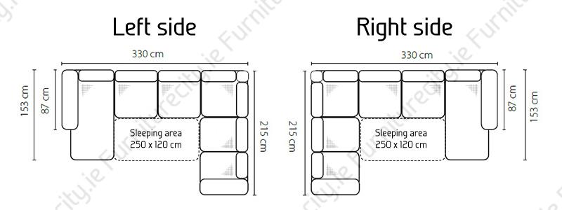 Sofa bed BORELLO U by Furniturecity.ie