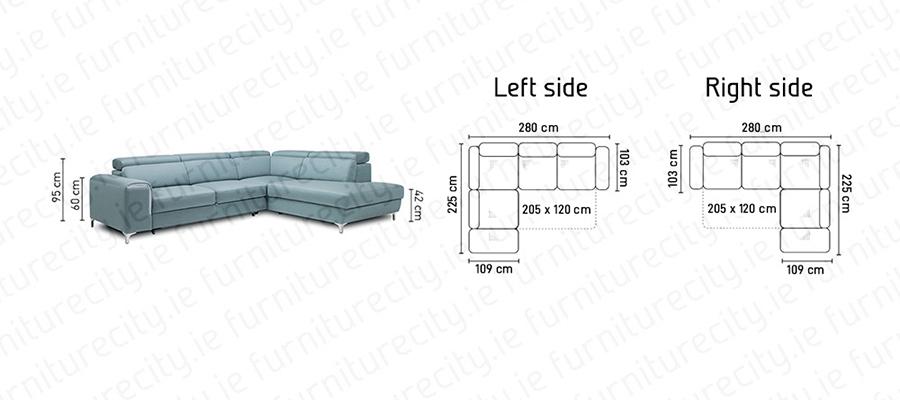 Sofa bed GENOA OPEN by Furniturecity.ie
