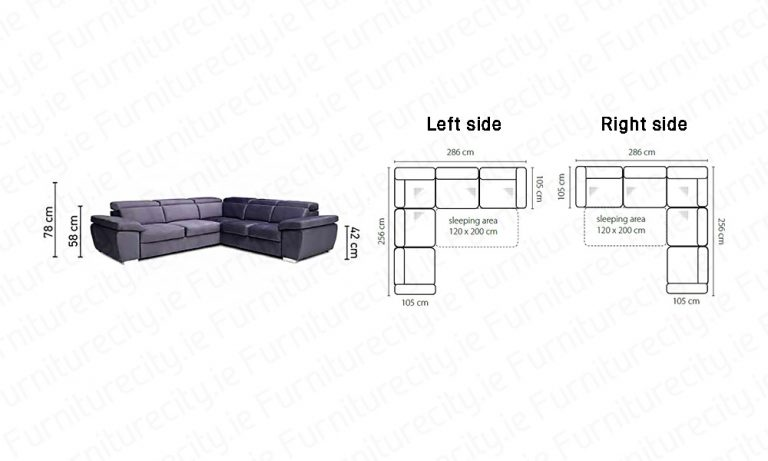 Sofa bed ROSY XL by Furniturecity.ie