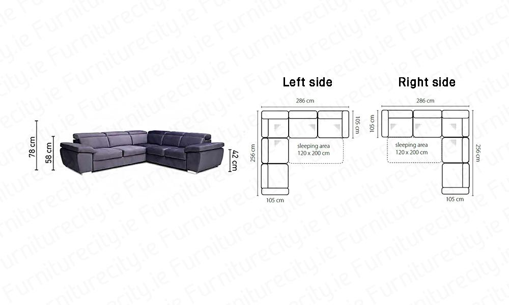 Sofa bed ROSY XXL by Furniturecity.ie