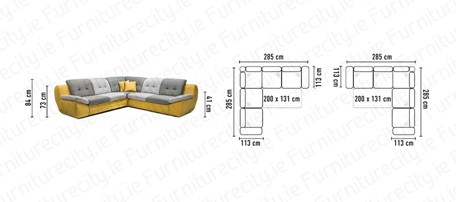 Sofa bed MOLLY by Furniturecity.ie