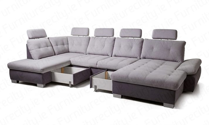 Sofa bed RAMONA U-shape by Furniturecity.ie