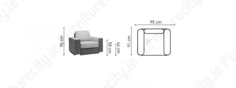 CHANTEL armchair by Furniturecity.ie