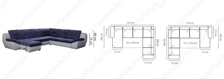 Sofa bed MOLLY U by Furniturecity.ie