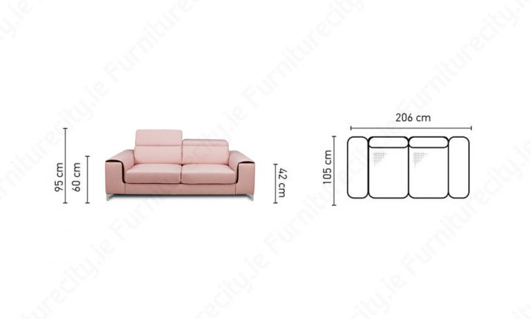 Sofa GENOA 3 Seater by Furniturecity.ie
