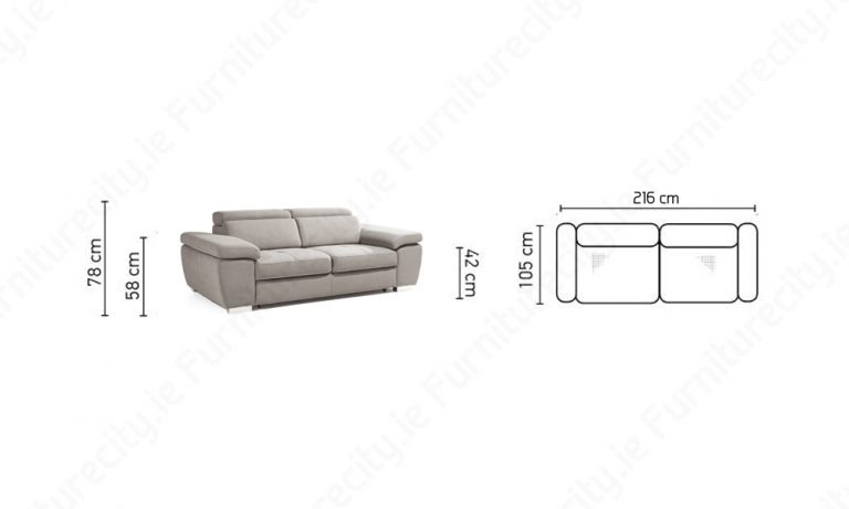 Sofa ROSY 3 Seater by Furniturecity.ie