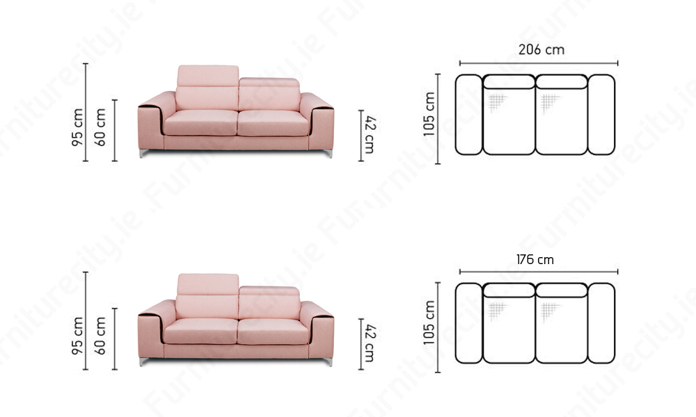 Sofa GENOVA 3+2 SET by Furniturecity.ie